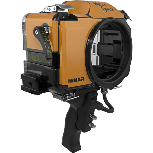 Nimar Water Sports Housing with Pistol Grip for Sony Alpha a6300 or a6500 (Orange/Clear)