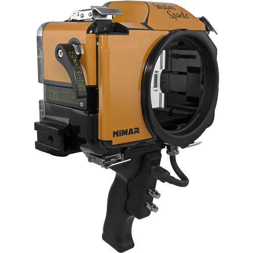 Nimar Water Sports Housing with Pistol Grip for Sony Alpha a7II, a7R II, or a7S II (Orange/Clear)