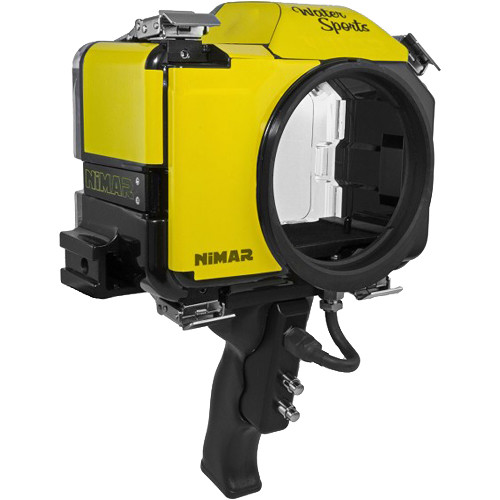 Nimar Base Water Sports Housing with Pistol Grip for Nikon D7100 or D7200 (Yellow/Clear)