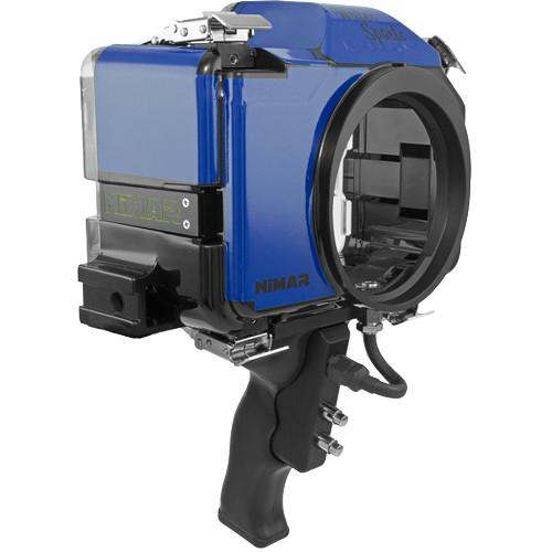 Nimar Base Water Sports Housing with Pistol Grip for Panasonic Lumix DMC-GH4 or GH4R (Blue/Clear)