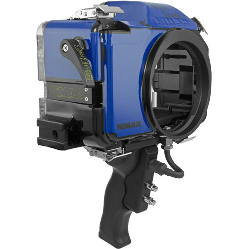 Nimar Water Sports Housing with Pistol Grip for Panasonic DMC-GH4 or GH4R (Blue/Clear)