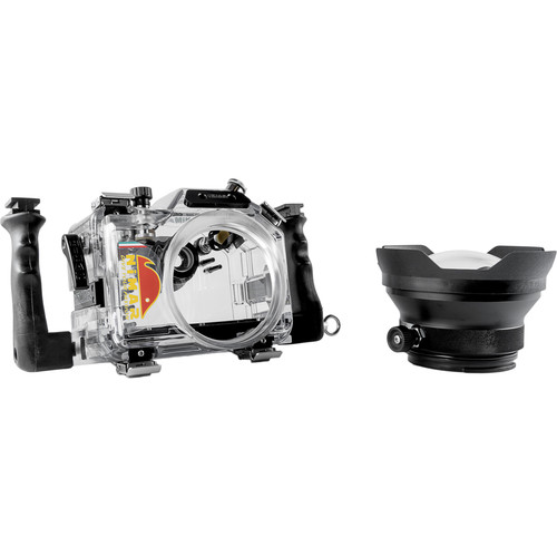 Nimar Underwater Dive Housing for Panasonic DMC-GH4 with Lumix G Vario 7-14mm Dome Port