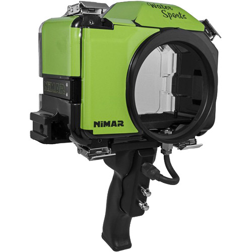 Nimar Base Water Sports Housing with Pistol Grip for Panasonic Lumix DC-GH5 (Green/Clear)
