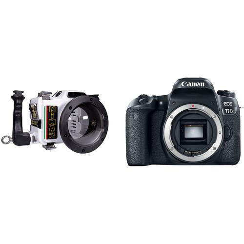 Nimar Underwater Housing and Canon EOS 77D Camera Body Kit