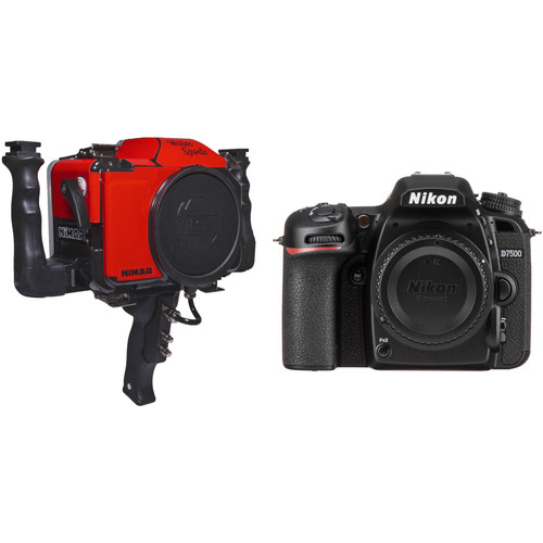 Nimar Water Sports Housing with Pistol Grip and Nikon D7500 Camera Body Kit