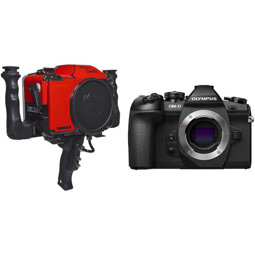Nimar Water Sports Housing with Pistol Grip and Olympus OM-D E-M1 Mark II Camera Body Kit