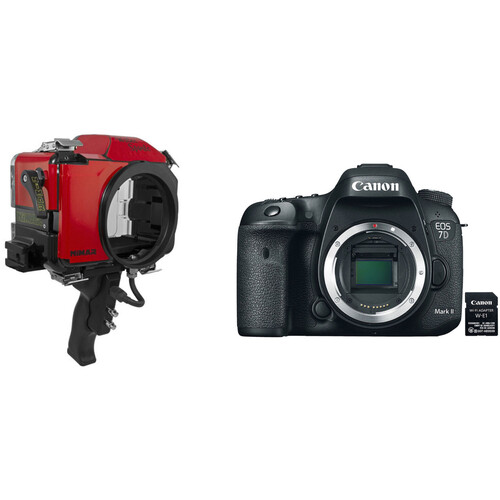 Nimar Water Sports Housing and Canon EOS 7D Mark II Camera Body Kit