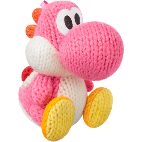 Nintendo amiibo Figure Kit with Pink Yarn Yoshi, PAC-MAN, and Zero Suit Samus
