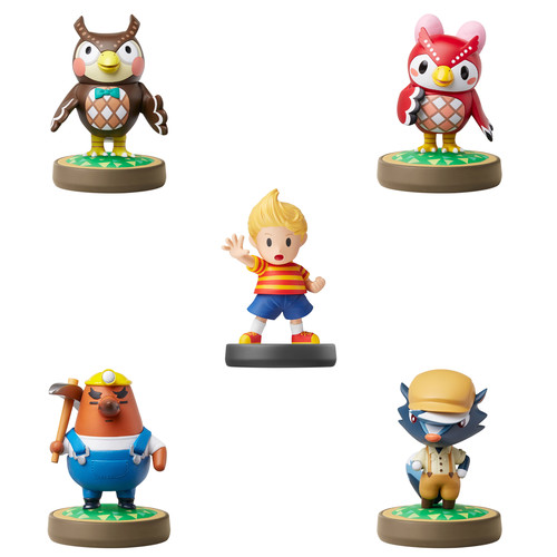Nintendo Animal Crossing Series amiibo Bundle with Super Smash Bros. Series Lucas amiibo Figure