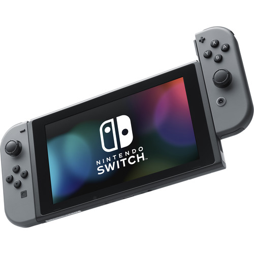 Nintendo Switch with Gray Controllers
