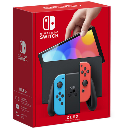 Nintendo Switch OLED Model (Neon Blue and Red Joy-Con, Black Dock)