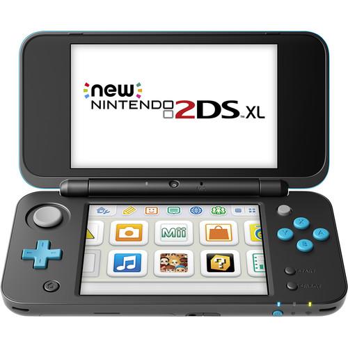 Nintendo 2DS XL Handheld Gaming System (Black & Turquoise)