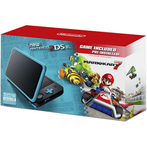 Nintendo 2DS XL Mario Kart 7 Bundle (Black + Turquoise)