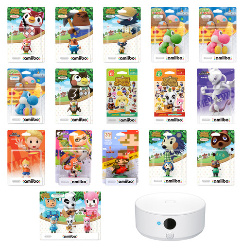 Nintendo Mega amiibo Figure Bundle with Animal Crossing amiibo Card Series 1 & 2 Kit
