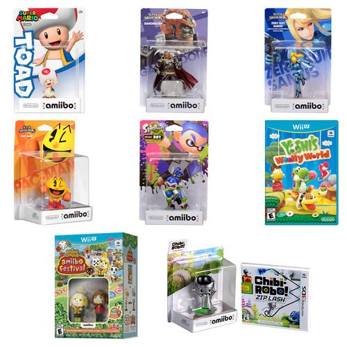 Nintendo Mega amiibo Figure Bundle with Yoshi's Woolly World and Chibi-Robo! Zip Lash Kit