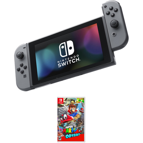 Nintendo Switch Kit with Super Mario Odyssey (Gray Joy-Con)