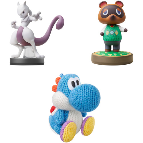 Nintendo Wild and Woolly & Animal Crossing amiibo Figure Bundle with Mewtwo