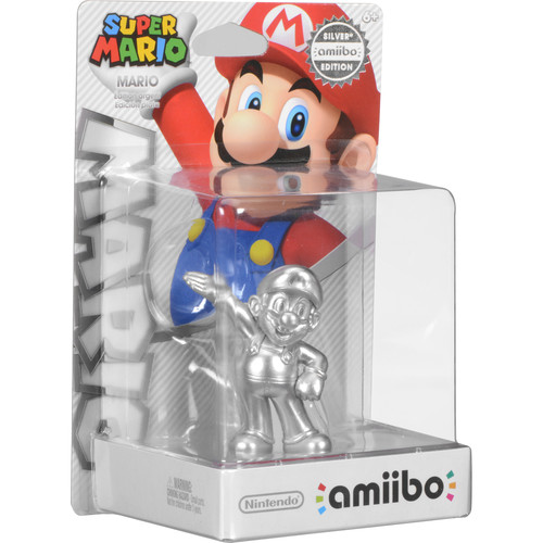Nintendo Mario Silver Edition amiibo Figure (Super Mario Series)
