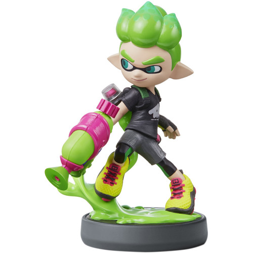Nintendo Inkling Boy (Neon Green) amiibo Figure (Splatoon Series)