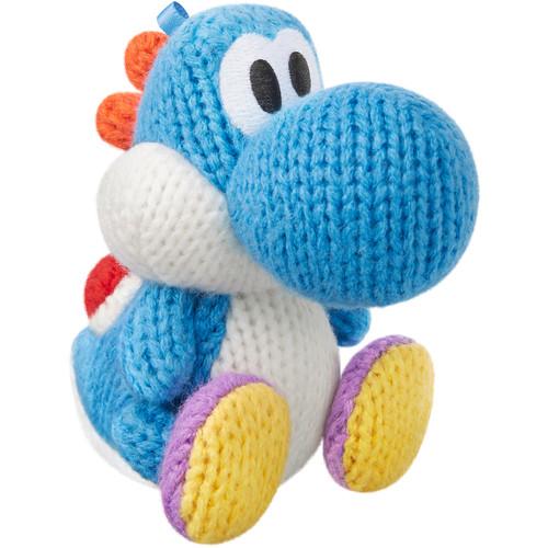 Nintendo Light Blue Yarn Yoshi amiibo Figure (Yoshi's Woolly World Series)