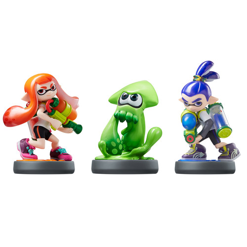 Nintendo Amibo Inkling Boy, Girl, & Squid 3-Pack (Splatoon Series, Wii U)