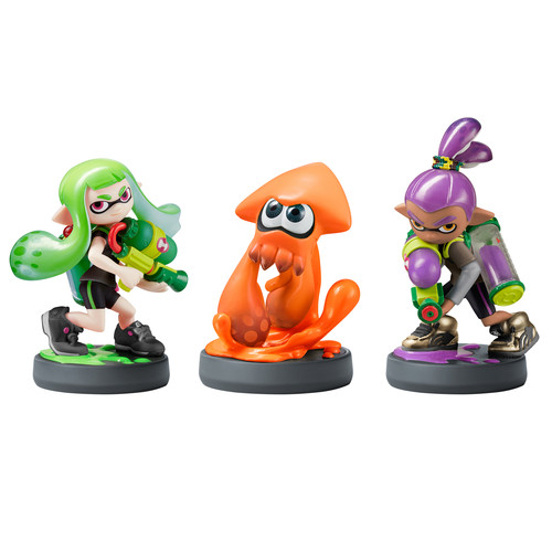 Nintendo Inkling Girl, Boy, and Squid amiibo Figures (Splatoon Series)
