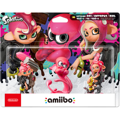 Nintendo Octoling amiibo Figures 3-Pack (Splatoon Series)