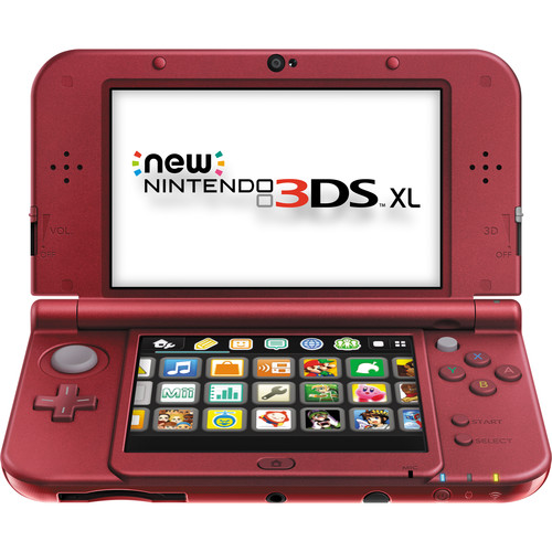 Nintendo 3DS XL Handheld Gaming System (2015 Version, Red)