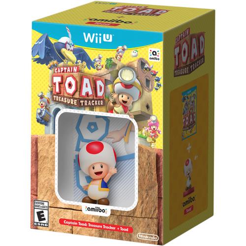 Nintendo Captain Toad: Treasure Tracker with Toad amiibo Bundle (Wii U)