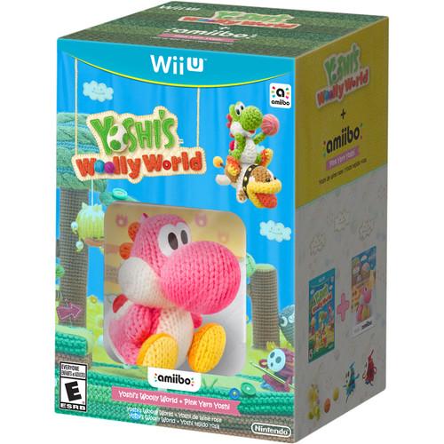 Nintendo Yoshi's Woolly World with Pink Yarn Yoshi amiibo Bundle (Wii U)