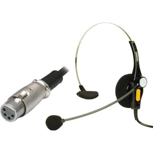 Nipros Single-Ear Intercom Headset with 4-Pin XLR-F