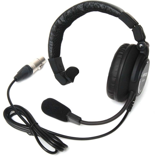 Nipros Single-Ear Closed-Back Intercom Headset with 4-Pin XLR-F
