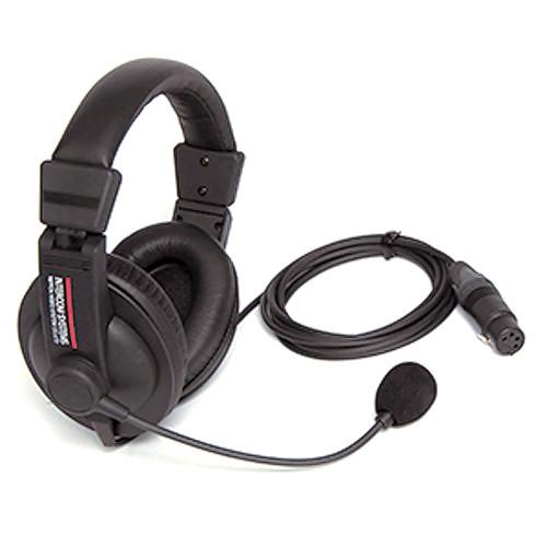 Nipros Dual-Ear Closed-Back Intercom Headset with 4-Pin XLR-F