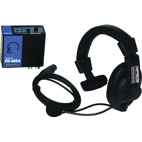 Nipros FD-400A Wired BNC Intercom System with Belt Pack & Single-Ear Closed-Back Headset