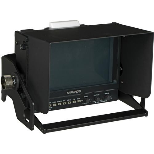 """Nipros HDF-700SK 7"""" Viewfinder with Studio Hood & Mount"""
