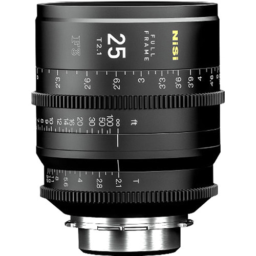 NiSi 25mm T2.1 F3 Prime Cinema Lens (PL Mount)