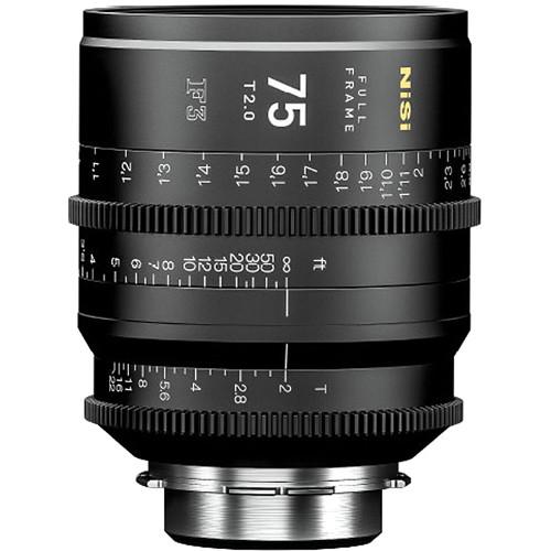 NiSi 75mm T2.0 F3 Prime Cinema Lens (PL Mount)