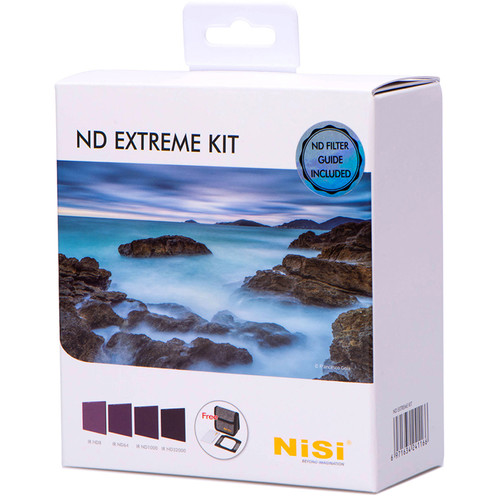 NiSi 100 x 100mm Solid Neutral Density Extreme Filter Kit (3, 6, 10, 15-Stop)