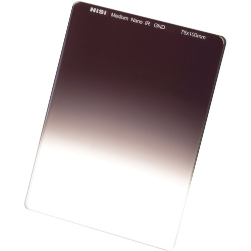 NiSi 75 x 100mm Nano Medium-Edge Graduated IRND 0.6 Filter (2-Stop)