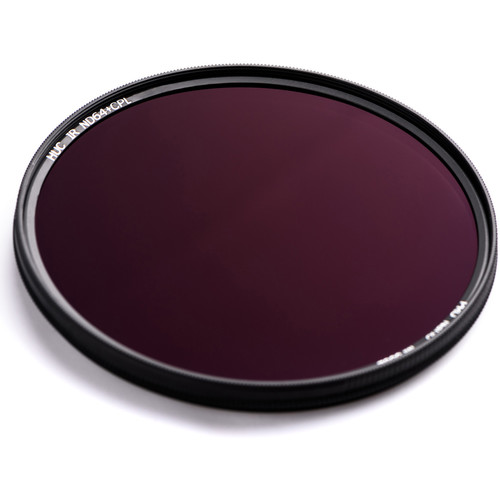 NiSi 62mm Solid Neutral Density 1.8 and Circular Polarizer Filter (6-Stop)