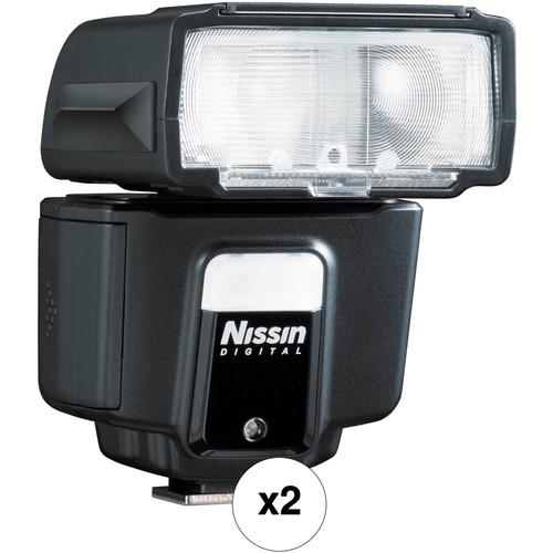 Nissin i40 Compact Two Flash Kit for Nikon Cameras