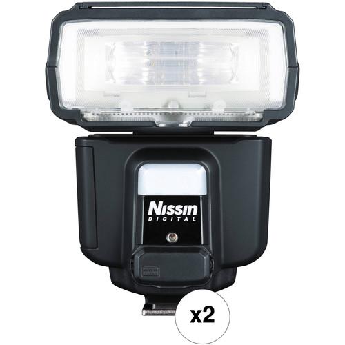 Nissin i60A Two Flash Kit for Nikon Cameras