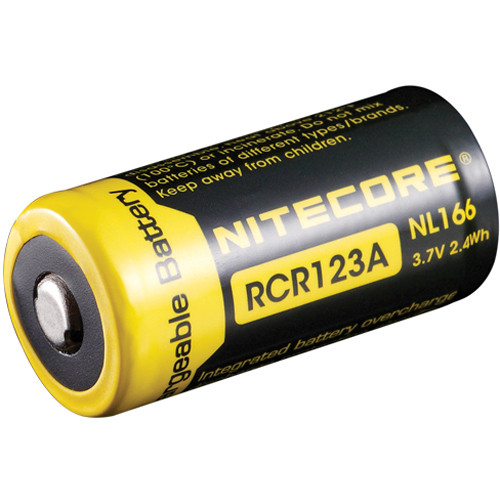 NITECORE RCR123A Li-Ion Rechargeable Battery (3.7V, 650mAh)