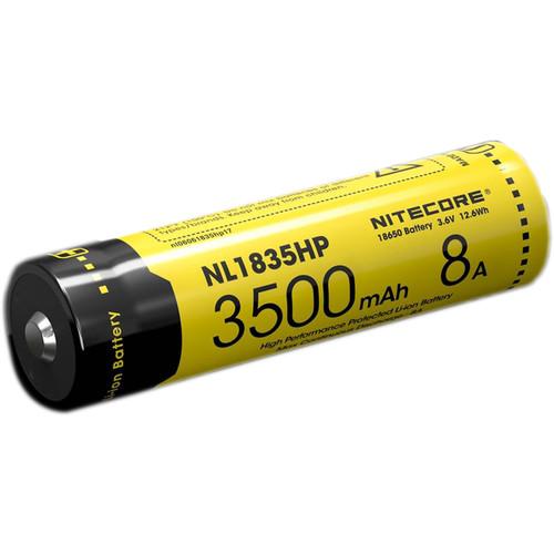 Nitecore NL1835HP High Performance Protected Li-Ion Battery (3.6V, 3500mAh, 8A)