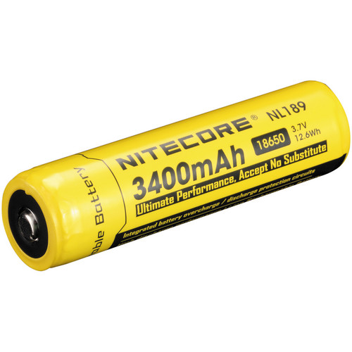 NITECORE 18650 Li-Ion Rechargeable Battery (3.7V, 3400mAh)