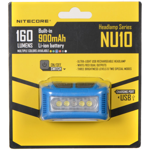 NITECORE NU10 Headlamp (Blue)
