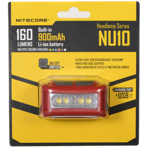 Nitecore NU10 Headlamp (Red)