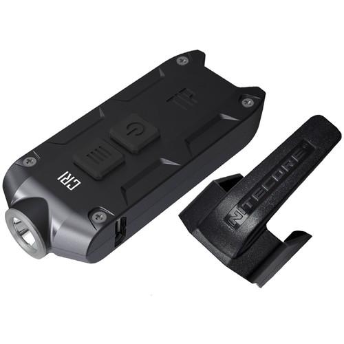 Nitecore TIP CRI 2017 Rechargeable Metal Keyring Light (Black)