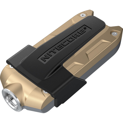 NITECORE TIP Rechargeable Metal Keyring Flashlight (Gray/Gold)