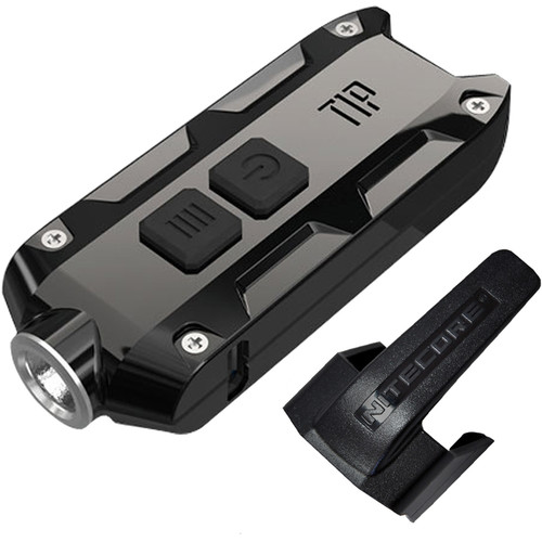 Nitecore TIP Rechargeable Metal Keyring Flashlight (Jet Black)
